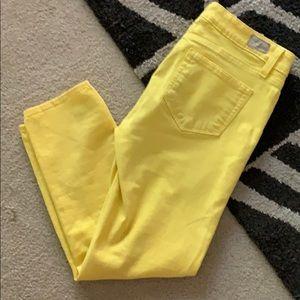 Paige Sunshine Yellow Capri sz 27